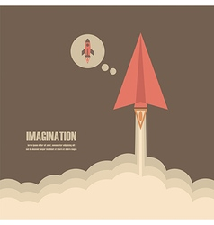 145paper rockets imagination vector