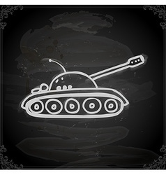 Hand drawn army tank vector