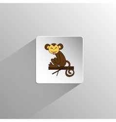 cute colored monkey icon vector image