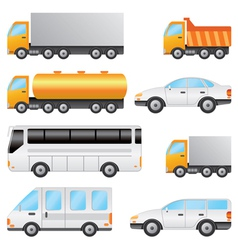 Set of various vehicles vector image