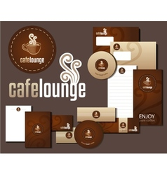 Cafe lounge corporate design vector