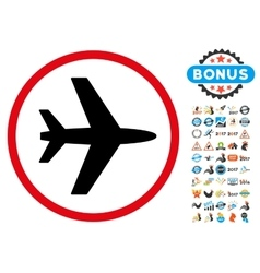 Airport Icon with 2017 Year Bonus Symbols vector image vector image