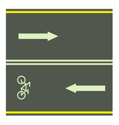 Bike path icon cartoon style vector