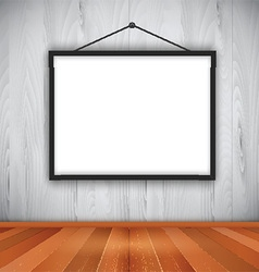 Blank picture frame on wall 0710 vector