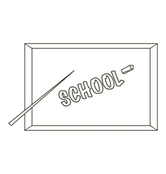 Board with a pointer and chalk icon outline style vector