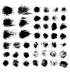 brush strokes set 7 vector image vector image