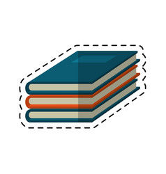 cartoon notebook study educational icon vector image