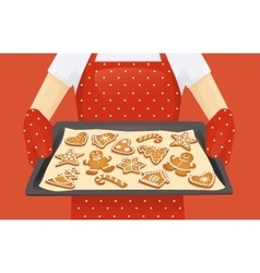 Christmas cookies background vector