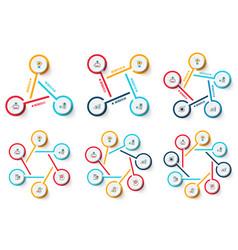 circle infographics set vector image