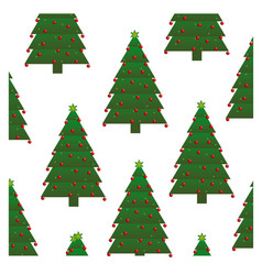 Colorful background with pattern of christmas tree vector