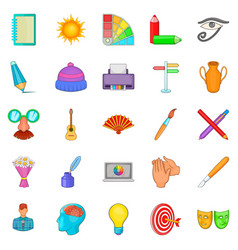 Craftsman icons set cartoon style vector