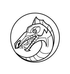 Decorative dragon head vector