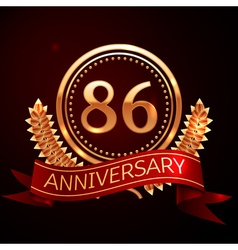 Eighty six years anniversary celebration with vector