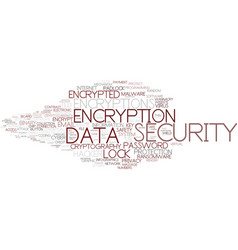 Encryptions word cloud concept vector