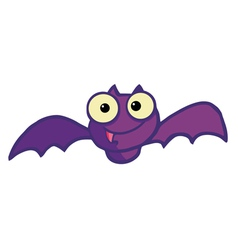 Flying purple vampire bat vector