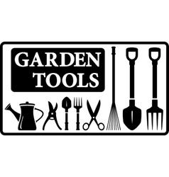 garden tools collection vector image vector image