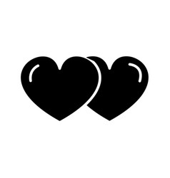 hearts couple love icon sig vector image vector image