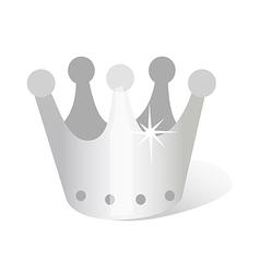 Icon silver crown vector