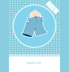 Its a boy greeting card vector image vector image