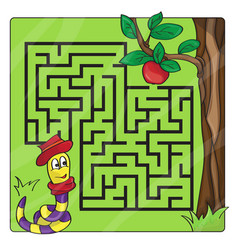 Labyrinth maze for kids entry and exit - help vector