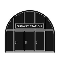Metropolitan single icon in black style vector