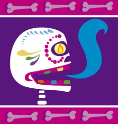 mexican skull 2 vector image vector image