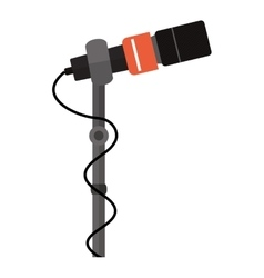 Microphone stand with square grid vector