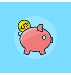 Moneybox flat icon vector image