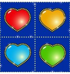 multicolor hearts vector image