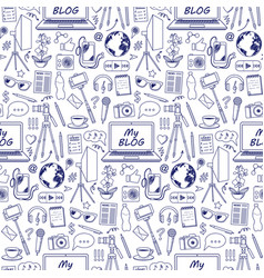 My blog sketch seamless pattern vector