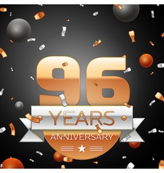 Ninety six years anniversary celebration vector