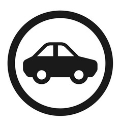 No motor and car sign line icon vector