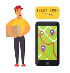 Order tracking delivery vector