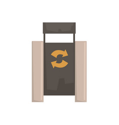 Outdoor bin with recycle symbol vector