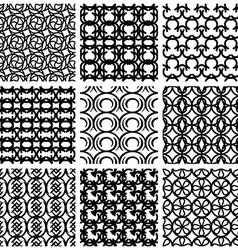Seamless geometric patterns set vector image