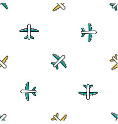 seamless with colored planes vector image vector image