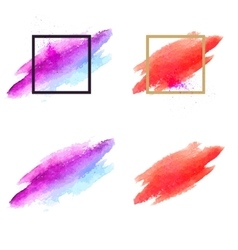 Set of brush stains Abstract vector image vector image