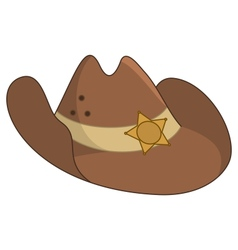 Sheriffs hat vector image