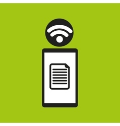 Smartphone file internet wifi icon vector