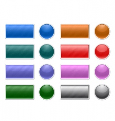 striped web buttons vector image