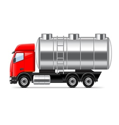 Tank truck isolated on white vector image vector image