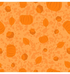 Thanksgiving Day polygonal pattern in orange color vector image vector image