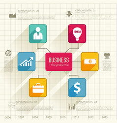 web business infographic template vector image