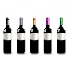 wine bottles vector image vector image
