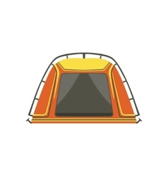 Small orange bright color tarpaulin tent vector