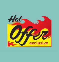 hot deal price sale offer deal labels stickers vector image