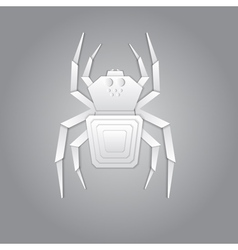 Spider paper design vector