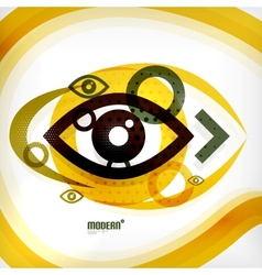 Abstract eye modern concept vector