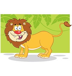 Lion jungle cartoon vector