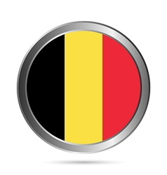 Belgium flag button vector